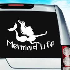 Mermaid Life Vinyl Car Window Decal Sticker Graphic