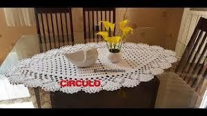 centro de mesa oval em crochê parte 1