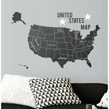 United States Chalk Map Peel And Stick Giant Wall Decal Roommates Target