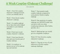 11 week cosplay makeup challenge week