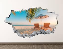 Large Beach Wall Decals 3d Bedroom For Nursery Art Umbrella Etsy Themed Australia Amazon Tropical Vamosrayos