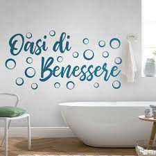 Bathroom Wall Decal Wellness Lounge Italian Muraldecal Com