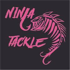 Vinyl Ninja Tackle And Fish Window Decal