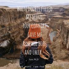 """awesome christian quotes thewordfortheday """"when doubts filled"""