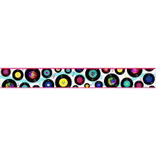 Vinyl Records Music Decorative Peel And Stick Wall Border At Retro Planet