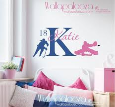 Hockey Wall Decal Hockey Decal Girls Wall Decal Kids Etsy With Images Kids Sports Room Kids Room Wall Decals Hockey Room Decor