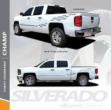 Chevy Silverado Upper Body Vinyl Graphics Champ 2013 2018 Premium And Supreme Install Speedycardecals Fast Car Decals Auto Decals Auto Stripes Vehicle Specific Graphics