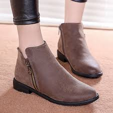 ankle boots autumn motorcycle
