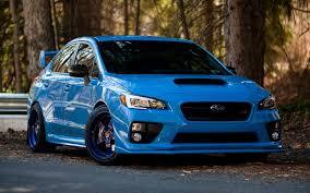 wallpaper blue sports car subaru