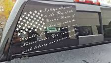 Large I Pledge Allegiance To The Flag America Decal Sticker Vinyl Window Truck For Sale Online Ebay