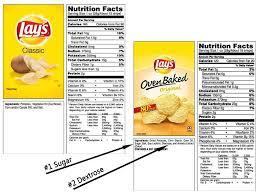 potato chips ings label