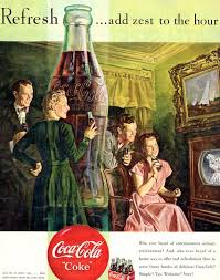 Collectibles Coca Cola Couple Coke Time 1940s Wall Decal Vintage Style Coke Bottles Wester Com Br