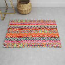 india style pattern multicolor rug by