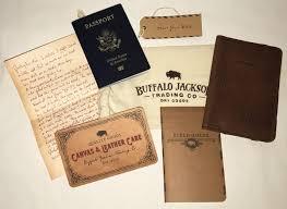 buffalo jackson leather passport travel