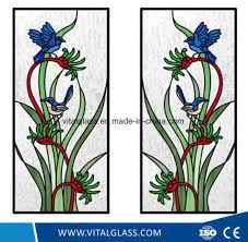 china decorative acid etched art glass