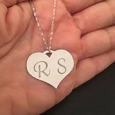 com personalized heart necklace