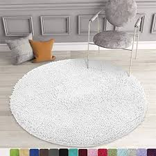 bathrooms round bath non slip chenille