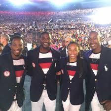 Carlin Isles, Justin Gatlin, Allyson Felix, Perry Baker REPPING Team USA. |  Opening ceremony, Justin gatlin, Olympians