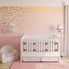 Gold Dot Wall Decals Metallic Gold Polka Dots Gold Wall Stickers Peel And Stick Dots Wbdots Gold Dot Wall Decals Gold Dot Wall Gold Wall Stickers