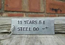 steel do 11th wedding anniversary gifts