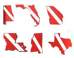State Dive Flag Double Vinyl Sticker