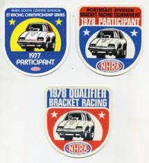 Lot Of 3 Vtg Original Nhra Drag Racing Sticker Decals 70 S Hot Rod Participant Nhra Drag Racing Racing Stickers Drag Racing
