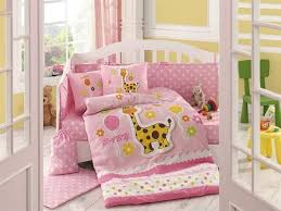 luna luxury 4pc cot nursery set pink