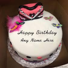 birthday cake design with name write