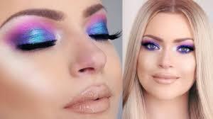 purple blue makeup tutorial