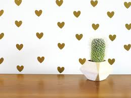 Gold Heart Wall Decals Mirror India Design White Pink And Flowers Large Vamosrayos