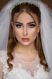 blond model in wedding dress and bridal