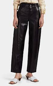 bottega veneta women s leather wide leg