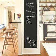 Amazon Com Chdhaltd Black Wall Decal Chalkboard Wall Sticker Removable Self Adhesive Reusable Erasable Wall Sticker Decal Pvc Wall Decal Self Adhesive Diy Reusable Erasable Restaurant Home Office 34 X 18 Office Products