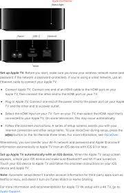 A1842 Apple TV 4k User Manual Apple TV User Guide Apple .