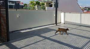 Oscillot Cat Containment System Merino On Masonry Fence Cat Proofing Cat Fence Diy Installation
