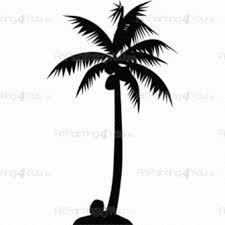 3d Palm Tree Wall Decals White Art Leaf Large Vinyl Black Vamosrayos
