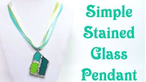 stained glass s pendant tutorials