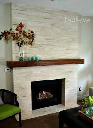 fireplace modern stone makeover before