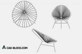 cad silla acapulco chair dwg free