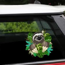 Car Styling New Removable Reusable Stickers Cute Sloth Car Stickers And Decals Body Window Door Car Sticker For Auto Products Car Stickers Aliexpress