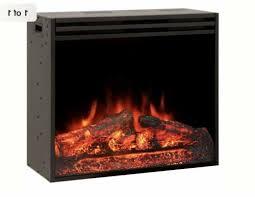28 electric firebox insert with fan