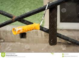 Old Used Dirty Paint Roller Hanging Stock Image Image Of Paint Fence 102770209