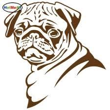 Hotmeini Pug Dog Car Stickers Funny Cute Vinyl Decal Car Styling Bumper Accessories 13 8 14 5cm Shop The Nation