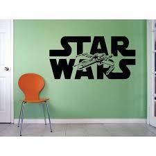 Star Wars Logo Mural Movie Series Jet Art Decor Silhouette Custom Wall Decal Vinyl Peel Stick Sticker 12 Inches X 18 Inches Walmart Com Walmart Com
