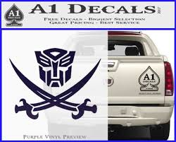 Transformers Autobot Pirate Decal Sticker A1 Decals