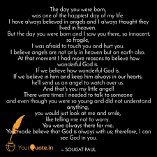the day you were born w quotes writings by sougat paul