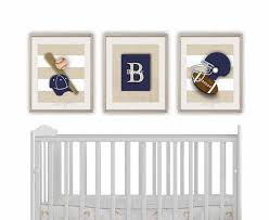 Sports Decor For Boys Room Sports Nursery Prints Set Of 3 Etsy