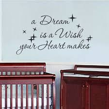 Inspired Wall Decal A Dream Is A Wish Quote Cinderella Fairytale Vinyl Art Decor Ebay