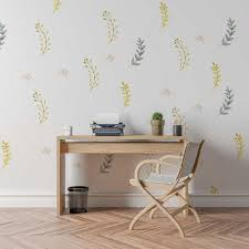 Fern Wall Decal Set Botanical Decals For Nursery Project Nursery