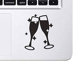 Amazon Com Donl9bauer Champagne Glasses Toast Decal Vinyl Car Decal Sticker For Car Window Bumper Sticker Truck Laptop Walls Kids Vinyl Decal Stickers Home Kitchen
